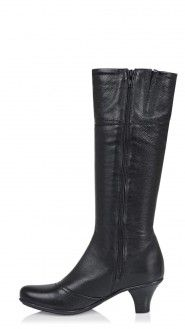 Boots Ramona Black Mid Heel Women Boots