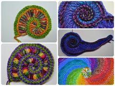 Crochet Pattern Freeform Spirals