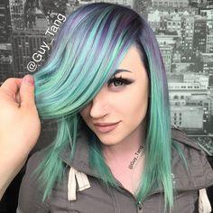 mint green hair - Google Search