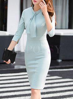 Women S Fashion Clearance Sale Info: 1142811503 Elegant Dresses Classy, Elegant Outfit, Classy Dress, Classy Outfits, Pretty Dresses, Formal Dresses For Women, Short Dresses, Dresses For Work, Official Dresses