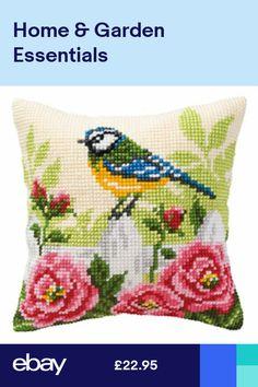 Blue Tit Cross Stitch Cushion Kit By Vervaco Cross Stitch Cushion, Cross Stitch Bird, Cross Stitch Designs, Cross Stitching, Cross Stitch Embroidery, Cross Stitch Patterns, Tapestry Kits, Needlepoint Kits, Le Point