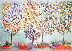 watercolour trees
