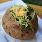 Microwave baked potato, easy snack or meal to make right in your dorm.