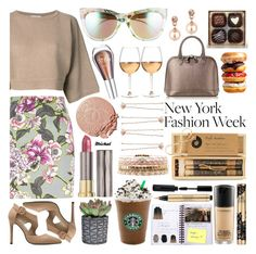 """""""What to Wear to NYFW"""" by michal100-15-4 ❤ liked on Polyvore featuring Brunello Cucinelli, River Island, Accessorize, Urban Decay, Brika, Aspinal of London, Marc Blackwell, Charlotte Russe, Lauren Conrad and Gucci"""