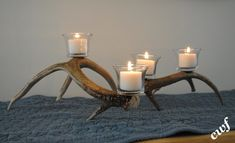 How to make an antler candle holder .