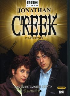 """Jonathan Creek: Series 1 (1997) created by David Renwick, starring Alan Davies and Caroline Quentin. """"Meet the magician with the trick of solving impossible crimes. Jonathan and Maddy investigate crimes which seem to have no rational explanation. Jonathan Creek is a bit of a nerd, but he is also a bit of a quick-witted genius. Maddy Magellan is an investigative crime writer, and the pair join forces to unravel a series of mysteries."""""""