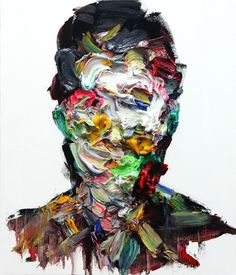 [100] untitled oil & charcoal on canvas 73 x 53.2 cm 20 by KwangHo Shin, via Behance