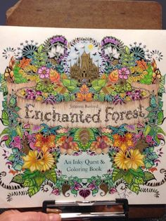 Coloring BookPens Cover Enchanted Forest