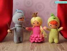 "Crochet fairy tale ""The Princess, Knight and the Dragon"""