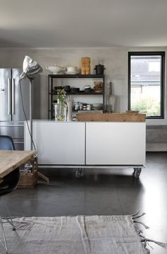 RESTEKJØKKEN — Slow Design Studio Slow Design, Kitchen Island, Cabinet, Studio, Storage, Furniture, Home Decor, Island Kitchen, Clothes Stand