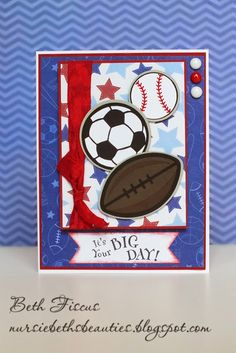 Beth's Beauties: Sports Balls Card