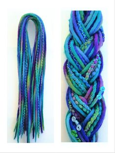 10 DE Wooldreads Mermaid by KatinkaDreads on Etsy