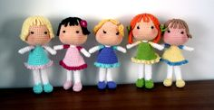 Free crochet doll pattern, plus tips for making different hairstyles.