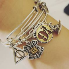 "Harry Potter inspired charmed arm! What a magical stack.... ""✨☄⚡#alexandani #mymomsthebest"" Instagram : @jordynshields"