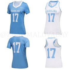 Lot Of 2 Nike UNC Women's Lacrosse Jersey Tank Top North Carolina Tar Heels $175 #Nike #NorthCarolinaTarHeels