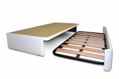 Camas Nido para aprobechar el espacio, dos camas en poco espacio con las que formar una cama de matrimonio, cama desplegable en dos