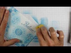 Tips to get nice, soft blending of colors over embossed stamped images