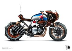 Custom motorcycle concepts by Holographic Hammer