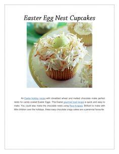 easter-egg-nest-cupcakes by Arya McLean via Slideshare