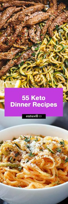 55 keto dinner recipes that are perfect for you to implement the Keto diet into your eating routine!