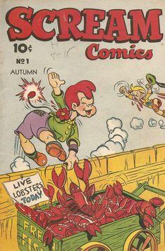 Comic Book Cover For Scream Comics #1