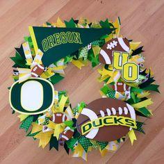 Oregon Duck Football Wreath by SherbertDesigns on Etsy,