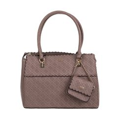GUESS Γυναικεία τσάντα χειρός GUESS RAYNA SATCHEL μπεζ σκούρο με print - Vres-To.gr Handle, Bags, Fashion, Handbags, Moda, Fashion Styles, Totes, Lv Bags, Hand Bags
