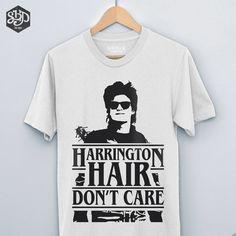 Harrington Hair Stranger Things 2 Shirt, Steve Harringtons Hair, Steven Harrington, Stranger Things Shirt, Joe Keery, Season 2, Harrington by SteelHouseDesign on Etsy https://www.etsy.com/listing/569504621/harrington-hair-stranger-things-2-shirt