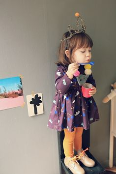 To know more about annika ワンピース, visit Sumally, a social network that gathers together all the wanted things in the world! Featuring over 91 other annika items too! Cute Outfits For Kids, Cute Kids, Cute Babies, Baby Kids, Fashion Moda, Look Fashion, Kids Fashion, Little Girl Fashion, My Little Girl