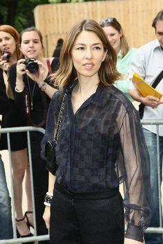 Sofia Copola knows how to wear a shirt.