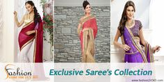 Today you can definitely #buy_designer_sarees_online without a doubt of quality or money losing. Fashion24365 providing better shopping and secure payment facilities. You can find here outstanding designer sarees meant for occasions, festivals or daily wearing needs.