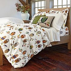 On A Limb Percale Bedding, $19-$119, companystore.com. Cute!