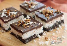 Zdravé nepečené trio s čokoládou, oříšky a kokosem | NejRecept.cz Vegan Treats, Cake Cookies, Nutella, Food And Drink, Healthy Recipes, Baking, Desserts, English, Get Well Soon