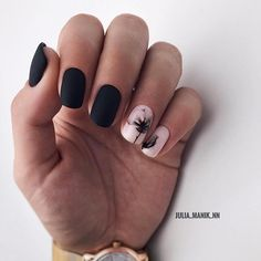 90 Everyday Nail Art Ideas 2019 in our App. Daily ideas of manicure and nail design. Gorgeous nails always! Everyday Nail Art Ideas 2019 in our App. Daily ideas of manicure and nail design. Gorgeous nails always! Square Nail Designs, Flower Nail Designs, Black Nail Designs, Simple Nail Designs, Acrylic Nail Designs, Nail Art Designs, Nails Design, Square Acrylic Nails, Square Nails