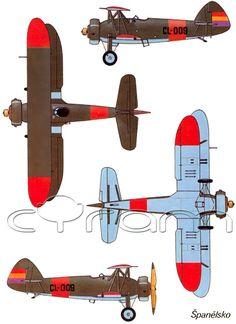 Doppeldecker Letov Š.231 im spanischen Farbschema (http://www.cyram-entertainment.de/shop/products/Modellbau/Militaer/Luftfahrzeuge/Luftfahrt-bis-1939/Letov-Scaron231.html)
