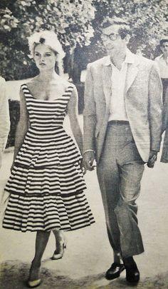 Brigitte Bardot & Roger Vadim, 1950s