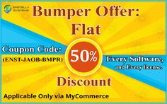 Enstella Systems Company gives the existing Enstella Bumper Offer on every kind of Enstella products like as: - data recovery, password recovery, backup recovery and email conversion etc and every license. By use this Coupon code: - (ENST-JAOB-BMPR) you obtain Enstella Offer Flat 50 % Discount and this offer accessible only MyCommerce gate-way. This Enstella Special Offer valid till 31-Jan, 2017 mid night.   Read More :- https://enstellabumperoffer.quora.com/Enstella-Bumper-Offer-Flat-50-Off