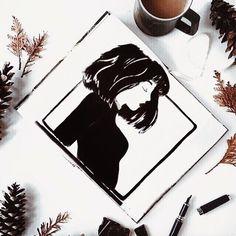 Всё меньше времени на творчество но от этого я рисую всё чаще.  Ведь только в этом состоянии я снова чувствую глубоко внутри какой-то толчок какое-то ожившее желание поверить в то что раньше было дорого моему сердцу.      #настярисуй #рисуйкаждыйдень #sketchzone #sketchoftheday #art #artist #illustration #whiteandblack #bnw