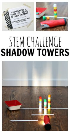 Build shadow towers in this STEM challenge for school age kids!