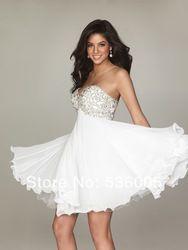 Online Shop 8th grade graduation dresses 2014 semi formal chiffion beaded short homecoming dresses|Aliexpress Mobile