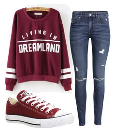 """""""Untitled #29"""" by prissysalas ❤ liked on Polyvore featuring H&M and Converse"""