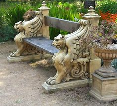 Insomniac's Attic: Gothic Garden Decor .... We need this!~o yes i can see this as my next in loving memory seat at the front of the house!