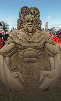 Sand sculpture at the NZ Sandcastle Competition…