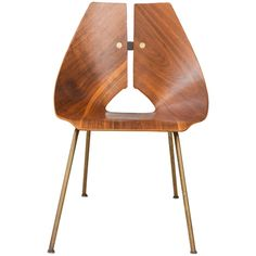 Ray Komai Walnut Side Chair | From a unique collection of antique and modern side chairs at http://www.1stdibs.com/furniture/seating/side-chairs/