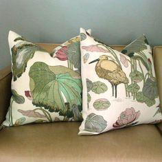 Designer Pillow  GP & J Baker  Nympheus  Biscuit   by modernthread, $160.00