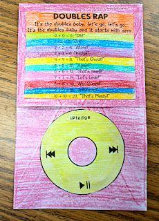 First Grade Fresh: Doubles Rap iPod template Second Grade Math, First Grade Classroom, Math Classroom, Classroom Ideas, Future Classroom, Classroom Resources, Grade 2, Math Resources, Classroom Organization
