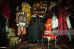 Traditional costumes are displayed at Atelier Pietro Longhi, official atelier of the 2017 Venice Carnival, on February 8, 2017 in Venice, Italy. Artisans, masks and costume makers are getting ready ahead of the 2017 Venice Carnival that will last from 11 - 28 February 2017.