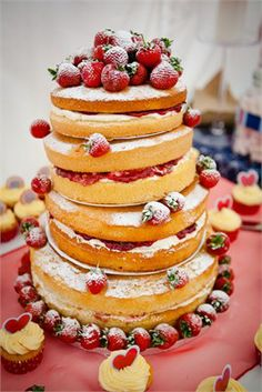 Naked Wedding Cake, featured on hitched.co.uk