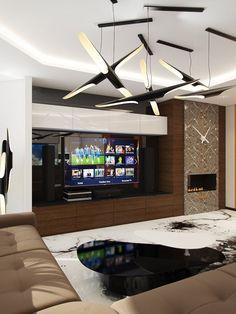 Liwingroom 3d Rendering, Flat Screen, Blood Plasma, Flatscreen, Dish Display