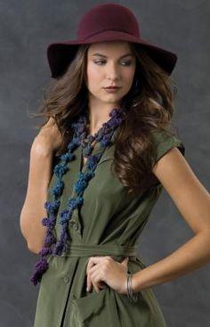 Best Free Crochet » Free Flowering Vine Scarf Crochet Pattern from RedHeart.com #271 6/5/13